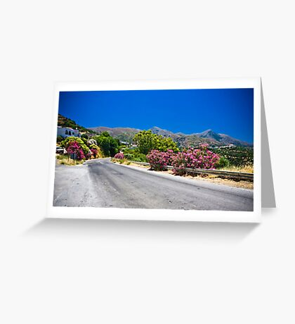 Empty Road Greeting Card