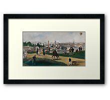 Edouard Manet - Fra Verdensutstillingen i Paris , French Impressionism , Landscape Framed Print