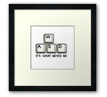 PC Gaming T-Shirt WASD. Framed Print