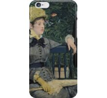 Edouard Manet - In the Conservatory 1878 - 1879 , French Impressionism  iPhone Case/Skin