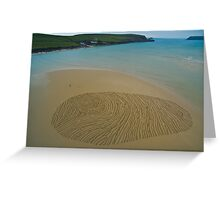 Hawkers Cove, Thumbprint Sand Drawing Greeting Card