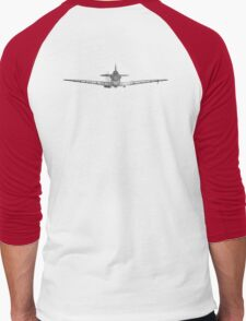 Supermarine, Spitfire, Supermarine, Spitfire, Head on, Fighter, WWII, 1942, Fighter, WWII, 1942, on WHITE Men's Baseball ¾ T-Shirt