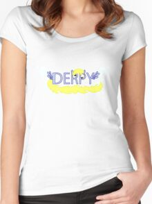 Derpy Typography Women's Fitted Scoop T-Shirt