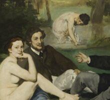 Edouard Manet - Luncheon on the Grass 1863 Sticker