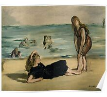 Edouard Manet - On the Beach 1868 Poster