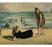 Edouard Manet - On the Beach 1868 , Impressionism  Seascape  Photographic Print