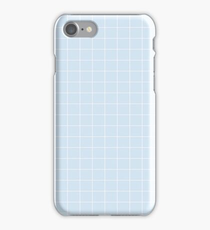Blue Aesthetic Grid  iPhone Case/Skin