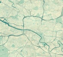 Glasgow Map Blue Vintage Sticker
