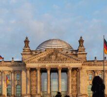 Snowy Reichstag, Berlin, (Reichstag im Schnee)  Sticker
