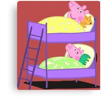 Peppa Pig Bed Time Canvas Print