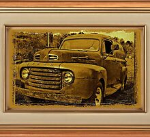 """Momma's Ford"" ... with a matted and framed presentation, for prints and products by © Bob Hall"