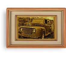 """Momma's Ford"" ... with a matted and framed presentation, for prints and products Canvas Print"