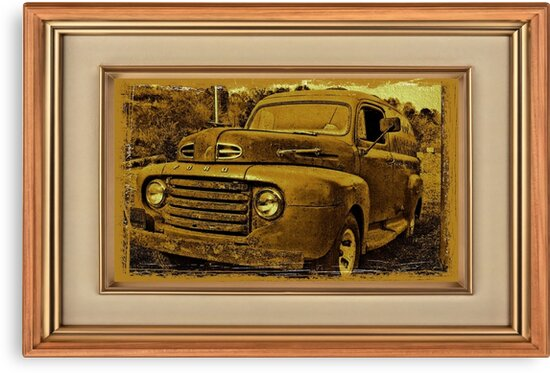 """""""Momma's Ford"""" ... with a matted and framed presentation, for prints and products by © Bob Hall"""