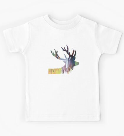 Abstract colorful Antler painting Kids Tee