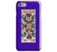 Blue Red Rosemal Tole Viking Folk Art Scandinavian Norway Old World Woods Painting Kirsten iPhone Case/Skin