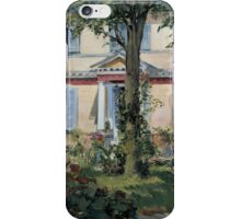 Edouard Manet - The House at Rueil 1882 iPhone Case/Skin