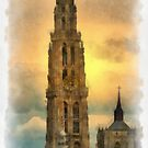 Our Lady's Cathedral - Antwerp by Gilberte