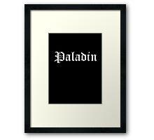 Paladin Framed Print