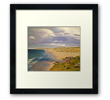 Perranporth Beach Painting Framed Print