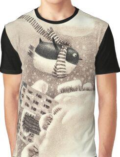 Cute Cartoon Flying Penguin Graphic T-Shirt