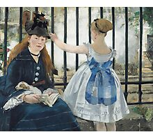 Edouard Manet - The Railway 1873 Woman Portrait Fashion  Photographic Print