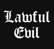 Lawful Evil Kids Tee