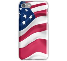 KRW Waving American Flag iPhone Case/Skin