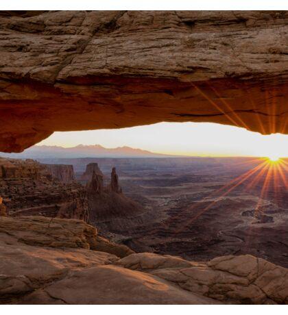 Mesa Arch Sunrise - Canyonlands National Park - Moab Utah Sticker