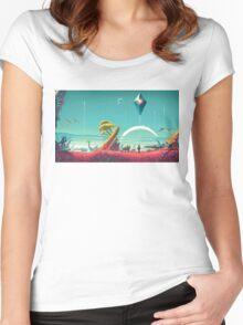 No Man's Sky Landscape Design Women's Fitted Scoop T-Shirt