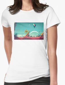 No Man's Sky Landscape Design Womens Fitted T-Shirt