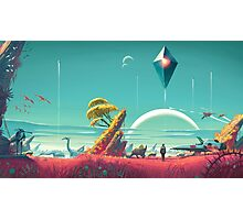 No Man's Sky Landscape Design Photographic Print