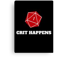 Crit Happens Canvas Print