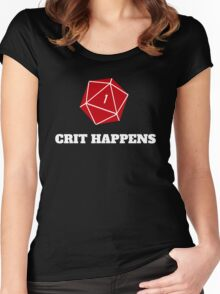 Crit Happens Women's Fitted Scoop T-Shirt