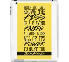 Kiss of a Flaying Knife iPad Case/Skin