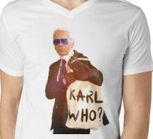 Karl Lagerfeld- Karl who Mens V-Neck T-Shirt