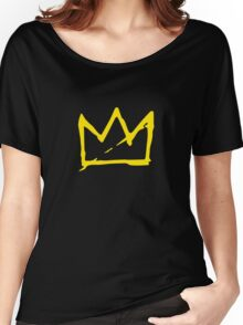 Yellow BASQUIAT CROWN Women's Relaxed Fit T-Shirt