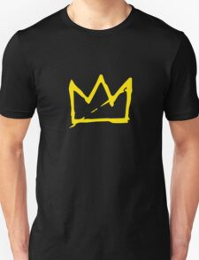 Yellow BASQUIAT CROWN Unisex T-Shirt