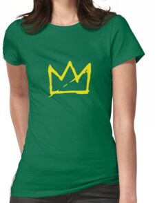 Yellow BASQUIAT CROWN Womens Fitted T-Shirt