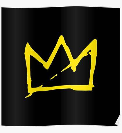 Yellow BASQUIAT CROWN Poster