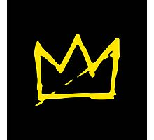Yellow BASQUIAT CROWN Photographic Print