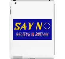 Believe In Britain iPad Case/Skin
