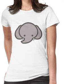 Cute Baby Elephant Head/Face Womens Fitted T-Shirt