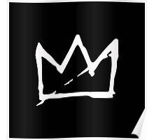 White Basquiat crown Poster