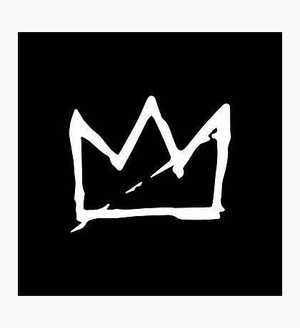 White Basquiat crown Photographic Print