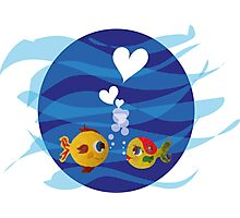 Love under the sea Photographic Print