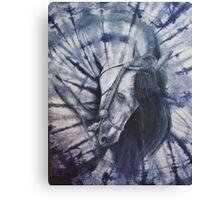 Caballo Indigo Canvas Print