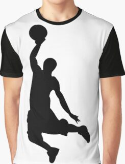 Basketball Player, Slam Dunk Silhouette Graphic T-Shirt