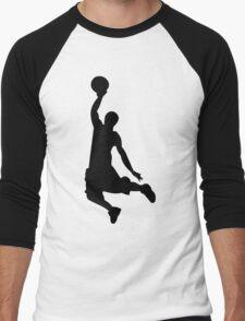Basketball Player, Slam Dunk Silhouette Men's Baseball ¾ T-Shirt
