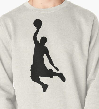Basketball Player, Slam Dunk Silhouette Pullover