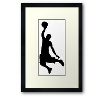 Basketball Player, Slam Dunk Silhouette Framed Print